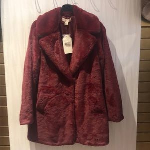 Beau Faux Fur Trench Coat